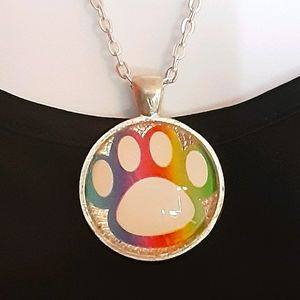 🌈Rainbow Paw🐾 Necklace